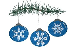 Snowflakes Ornaments embroidery design