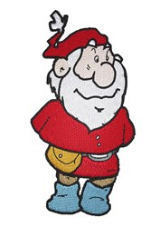 Warm Day Santa embroidery design