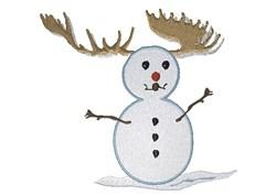 Rudolph Snowman embroidery design