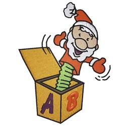 Santa In The Box embroidery design