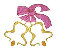 Two Bells embroidery design