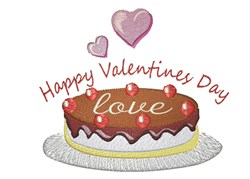 Happy Valentines Day embroidery design
