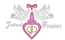 Joined Forever embroidery design