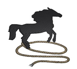 Rope With Horse embroidery design