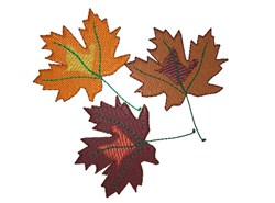Three Leaves embroidery design