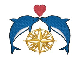 Nautical Dolphins embroidery design