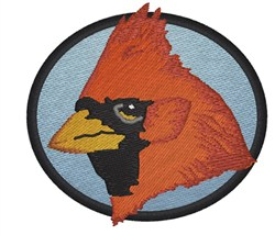 Cardinal embroidery design