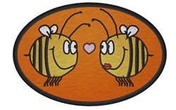 Bees In Love embroidery design