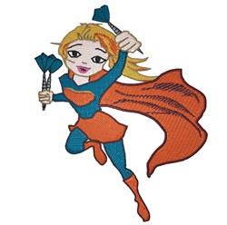 Super Girl embroidery design