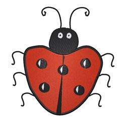 Heartshaped Ladybug embroidery design