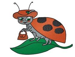 Ladybug embroidery design