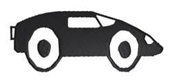 Sportscar embroidery design