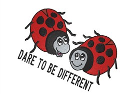 Dare To Be Different embroidery design