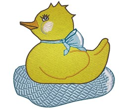 Swimming Ducky embroidery design