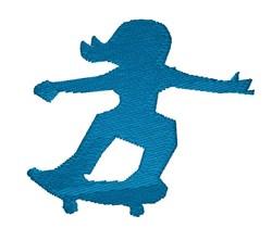 Girl On Skateboard embroidery design