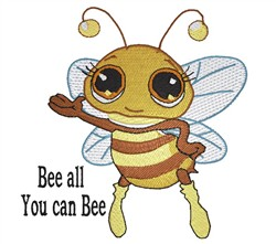 Bee All embroidery design