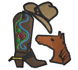 Cowboy Stuff embroidery design