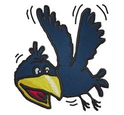 Cartoon Crow embroidery design
