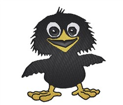 Cute Baby Crow embroidery design