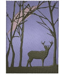 Forest Silhouette embroidery design