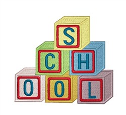 School Blocks embroidery design