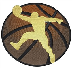 Basketball Player Silhouette embroidery design