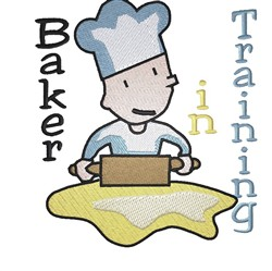 Baker In Training embroidery design
