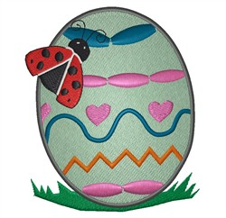 Ladybug And Easter Egg embroidery design