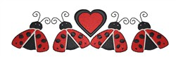 Ladybugs Heart Border embroidery design