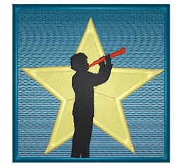 Star Clarinet Player embroidery design