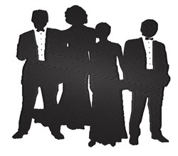 Formalwear Silhouettes embroidery design