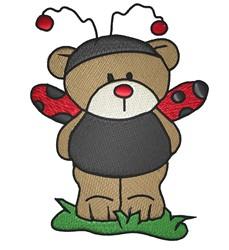Ladybug Teddy Bear embroidery design
