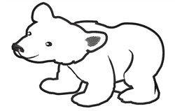 Polar Bear Outline embroidery design