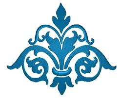 Flourish Fleur Graphic embroidery design