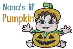 Nanas Baby Pumpkin embroidery design
