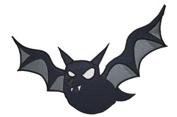Black Bat embroidery design