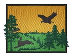 Hawk  Scene embroidery design