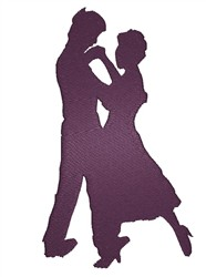 Dancing Silhouette embroidery design