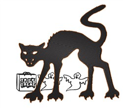 Scary Cat embroidery design