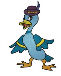 Duck In Hat embroidery design