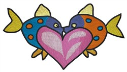 Fish In Love embroidery design