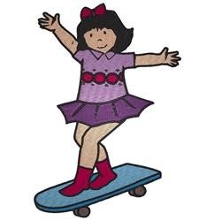 Skateboard Girl embroidery design