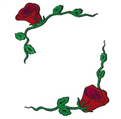 Rose Frame embroidery design