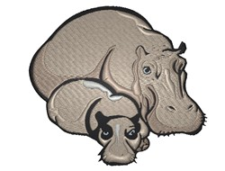 Hippos embroidery design