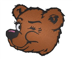 Bear Winking embroidery design