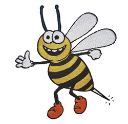 Happy Bee embroidery design