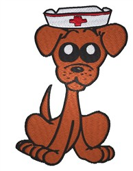 Chihuahua Nurse embroidery design