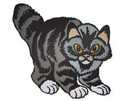 Staring Cat embroidery design