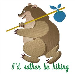 Rather Be Hiking embroidery design