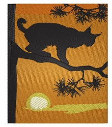 Bobcat Scene embroidery design